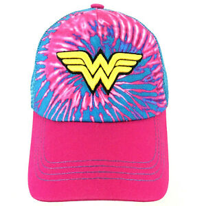 Wonder Woman Symbol Logo Hat Six Flags DC Comics Snap Back Baseball Trucker Cap