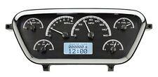 53 54 55 Ford F100 Truck Pickup Dakota Digital Black Alloy & White VHX Gauge Kit