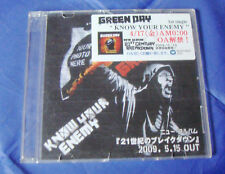green day KNOW YOUR ENEMY Japan single CD PROMO
