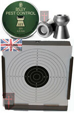 500 BISLEY Pest Control .177 Pellets Air Rifle + 100 14cm Targets ( 4.5mm