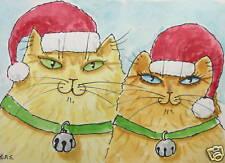 Mr. & Mrs. Sandy Claws - 5 x 7 Christmas Cat Art Card