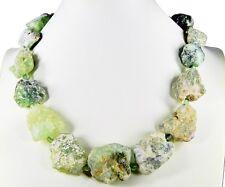 Schöne Edelsteinkette aus Fluorit Roh-Steinen in Form von großen Nuggets -346