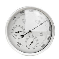 3 In 1 Thermometer Hygrometer Wall Mounted Dial Weather Station Gauge Barometer