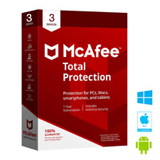 McAfee Total Protection 2019 3 MULTIDEVICE 1YEAR WORLDWIDE ANTIVIRUS NOT 2018