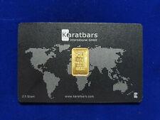 🔥 2.5 gram KARATBARS Gold Bullion .999 Fine Gold bar 24K CERITIFIED & VERIFIED