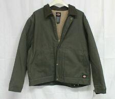 NEW Dickies Denim Sherpa Lined Chore Coat Winter Jacket Brown MEN 2XL XXL