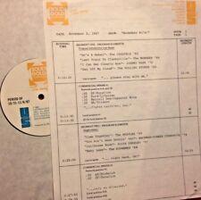 RADIO SHOW: 11/2/87 NOV #1! 4 SEASONS, RINGO STARR, BTO, STRAWBERRY ALARM CLOCK