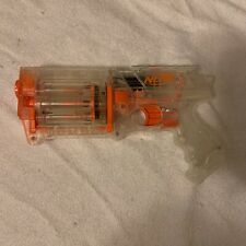 Nerf N-Strike Clear Transparent Maverick REV-6 Revolver Dart Gun - FREE SHIPPING
