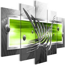 Wandbilder xxl 225x100 cm Abstrakt grau grün Leinwand Bilder a-A-0010-b-m