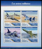 GUINEA 2017  MILITARY PLANES  SHEET MINT NEVER HINGED