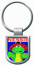 Scottish Small Loch Ness Monster Nessie Red Hat Shield Purse Keyring Charm