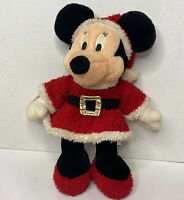 """Disney Store Holiday Mickey Minnie Mouse Christmas Plush Doll 15"""""""