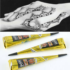 color Natural Herbal Henna Cones Temporary Tattoo kit Body Art Paint Mehandi Ink