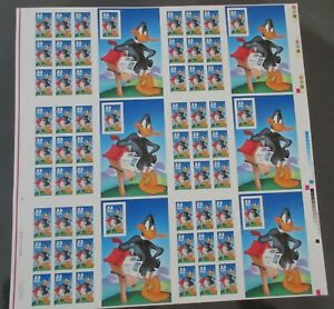 Daffy Duck #3306-6 Sheet of 9 Thirty Three Cent Stamps