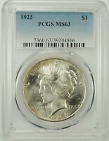 1923-P $1 PEACE SILVER DOLLAR PCGS MS63 #39204866 - GREAT EYE APPEAL BU COIN!!!