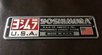 2 x YOSHIMURA USA 3D Motorcycle Exhaust Heat Resistant Sticker Decal Aluminium