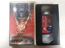 Army of Darkness RARE Limited Numbered Edition UNRATED Director's Cut VHS horror