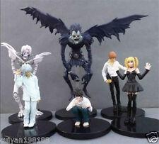 6pcs Death Note L Lawliet Nia Light Yagami Misa Ryuk Rem 6-16cm PVC Figure Loose
