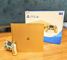Rare Gold PlayStation 4 Slim 1TB Console with Controller (CUH-2015B)