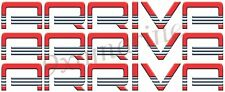 """Two 16"""" Arriva Boat Remastered Name Plate Decals in Vinyl"""