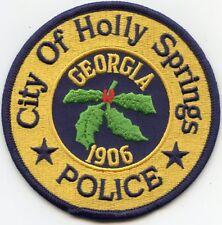HOLLY SPRINGS GEORGIA GA POLICE PATCH