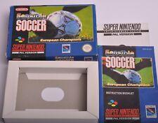 SNES SENSIBLE SOCCER BOX & MANUAL ( NO CARTRIDGE )
