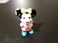 Vintage porcelain Minnie Mouse figurine Japan 3""