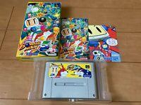SUPER BOMBERMAN 5 Japan Super Famicom SNES BOX and Manual