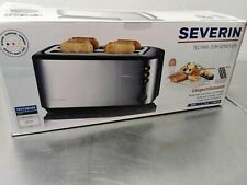 Automatik-Langschlitztoaster, Toaster mit Brötchenaufsatz, hochwertiger Edelsta