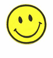 Smiley Face Emoji DIY Embroidered Sew On Iron Patch Badge Clothes Tshirt Sewing