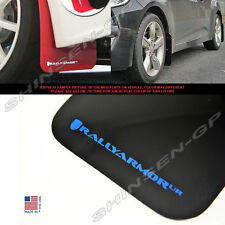 RALLY ARMOR UR MUD FLAPS FOR 2012-2017 VELOSTER TURBO & NON-TURBO BLACK / BLUE
