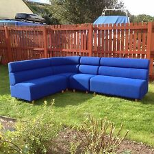 Modular seating,in 3 separate pieces,blue,good condition