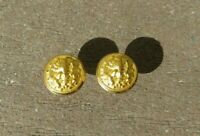 WW2 USN NAVY Military Service Cap Hat Chin Strap Studs Screws Buttons w/ Nuts