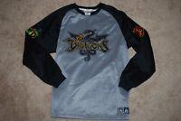 RARE Men's Disney Dragons #8 Gwythaint & Mushu Thermal Sweatshirt (Large)