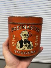 Early Postmaster's Smokers Tobacco Tin