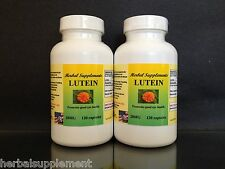 Lutein 20mg + Zeaxanthin ~ 240 (120x2) capsules, vision, cataracts. Made in USA