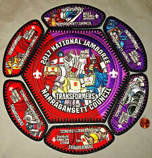NARRAGANSETT COUNCIL RI TULPE 102 OA FLAP 2017 JAMBOREE 7-PATCH SET TRANSFORMERS