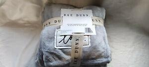 Rae Dunn love Plush Throw Blanket Grey Soft USA Brand New tags UK seller