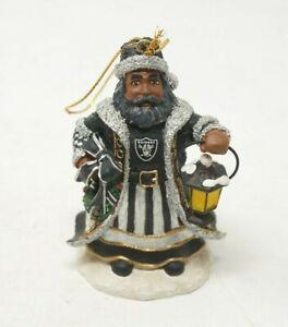Oakland Raiders Olde World Santa 4th Limited Memory Company Ornament