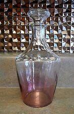 Vintage Parisienne Cristallerie DArques France IRIDESCENT PURPLE Decanter Bottle