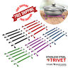 Silicone Stainless Steel Trivet Hot Pan Pot Stand Non Slip Kitchen Worktop Saver