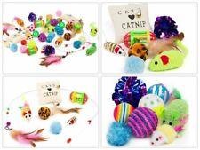 14Pcs Pet Cat Toys Set Bulk Mice Ball Catnip Kitten Play Ball Toy CL