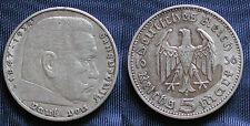 MONETA COIN GERMANIA GERMANY THIRD REICH 5 MARKS 1936/A HINDEMBURG SILBER SILVER