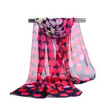 New Fashion Women Ladies Long Silk Scarf Printed Chiffon Shawls Wraps Stoles