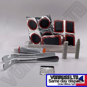 15pc Bike Repair Kit - Patches Multi-tool Chalk Steel Crayon Plastic Metal Lever