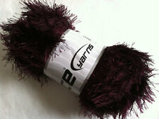 LG 100 gram Maroon Eyelash Yarn Ice Fun Fur 164 Yards 22718