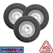"3 x NEW Trailer Wheel & Tyre 145/80x10"" 4ply 4 Stud 4"" PCD (4on4) - FREE DEL"