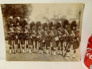 48th Highlanders of Canada Sepia Real Photograph RG Harris Military Archive #A6