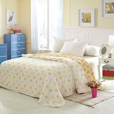 Cute Yellow Duck Pattern Towel Blanket for Sofa Bath Travel Towel Soft New