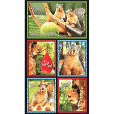 "1 Robert Kaufman Squirrel Fabric Panel 23 1/2 "" x 44"""